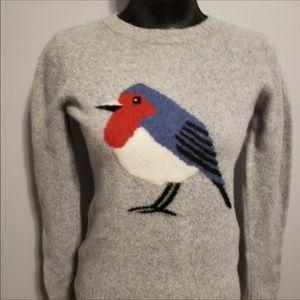 TELLURIDE   Pink Washed Merino Wool Bird Sweater